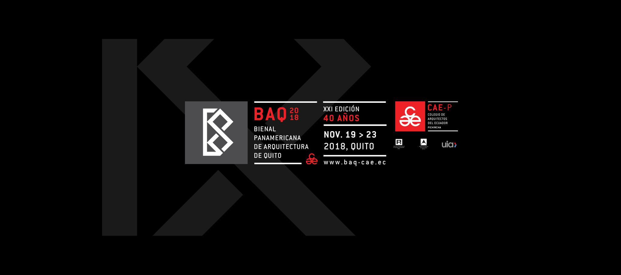 The countdown begins for the XXI edition of the Pan-American Architecture Biennial of Quito BAQ 2018. Courtesy of BAQ2018