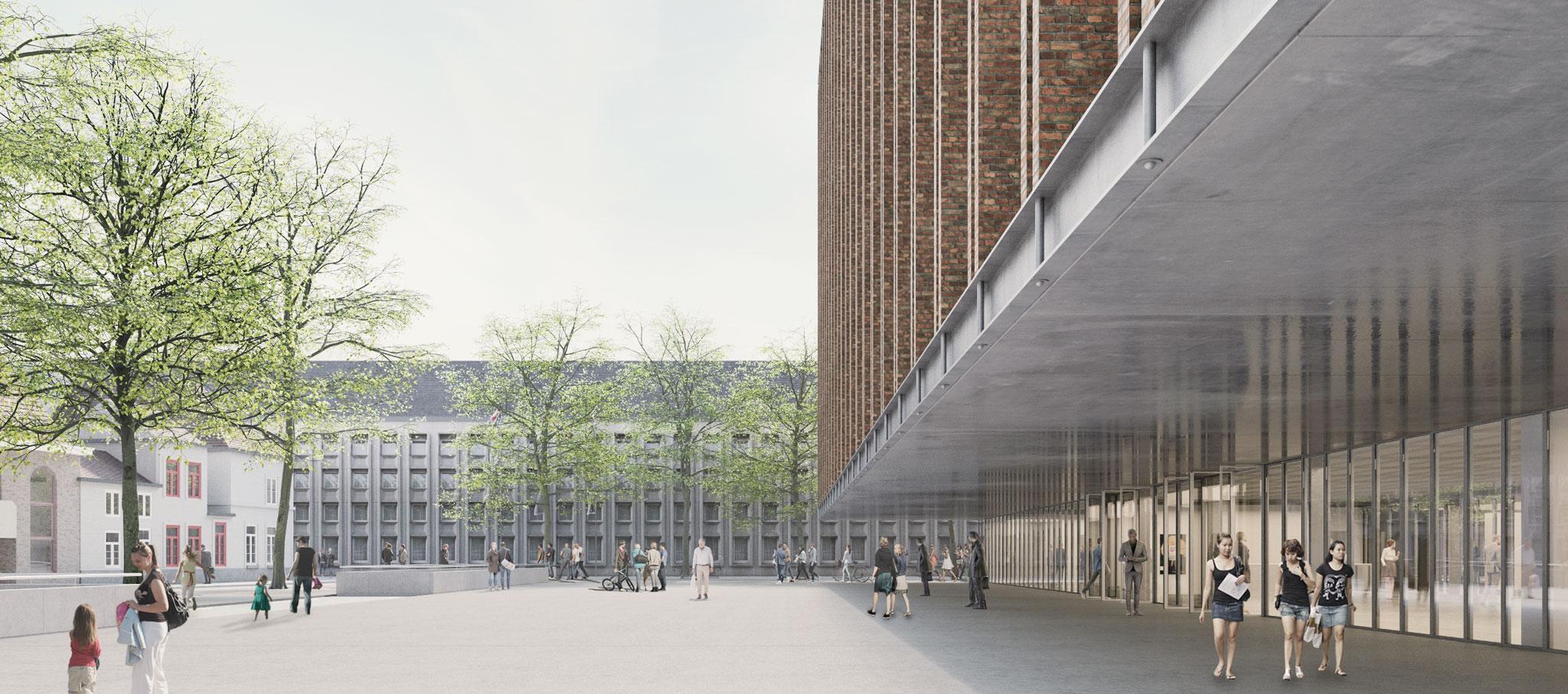 Nuevo Beursplein & Congresgebouw Brugge por Eduardo Souto de Moura en colaboración con Meta Architectuurbureau. Imagen © infunctievan