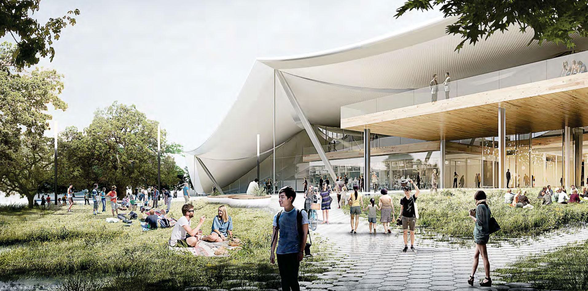 Visualización. Nueva propuesta de BIG y Heatherwick, para la sede de Google en California