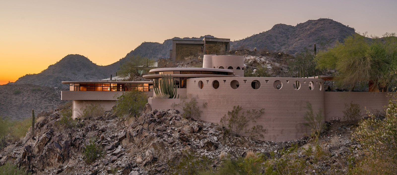 'Norman Lyker Home' by Frank Lloyd Wright. Image courtesy of The Agency