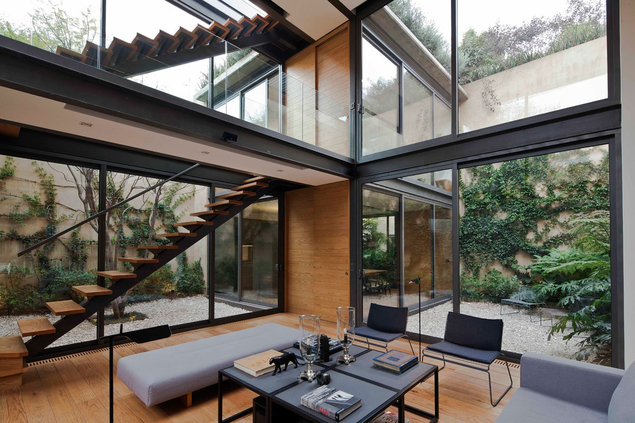 Four Patio House By Andrés Stebelski