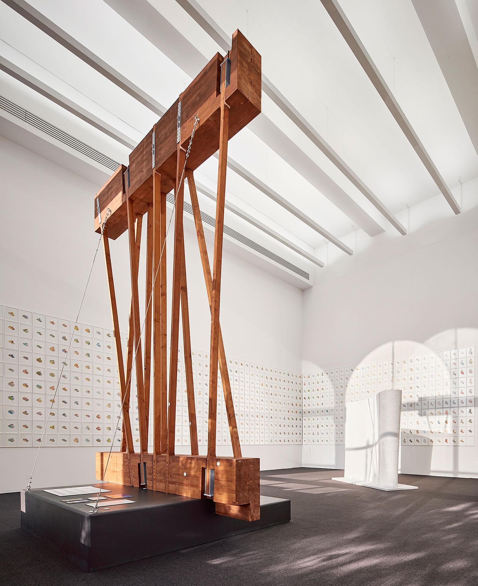 Studio Gang, Material Connections: Writers Theatre, 2017. Fotografía cortesía de Chicago Architecture Biennial / Tom Harris