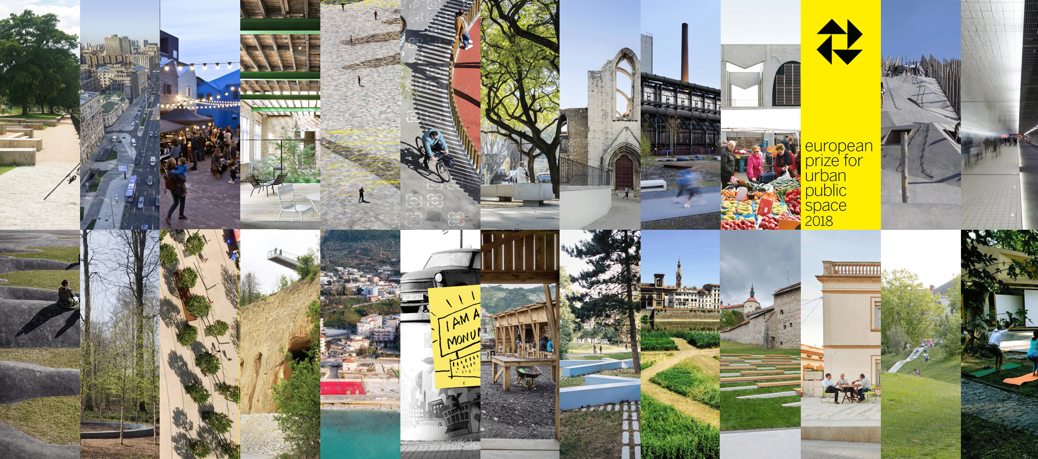 25 finalists at the European Prize for Urban Public Space 2018