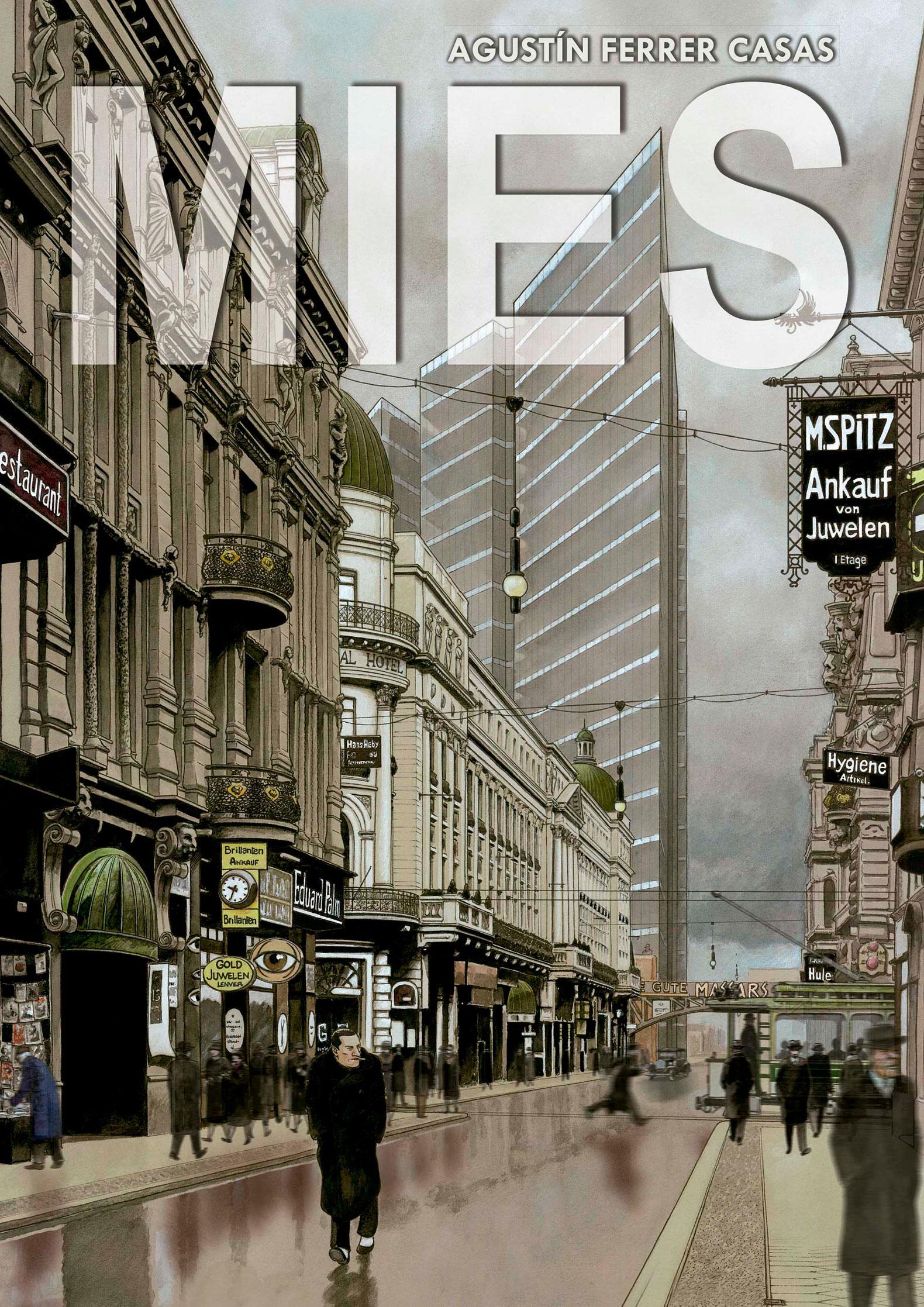 Imagen de portada de la novela gráfica MIES por Agustín Ferrer Casas. Imagen cortesía de Grafito Editorial.