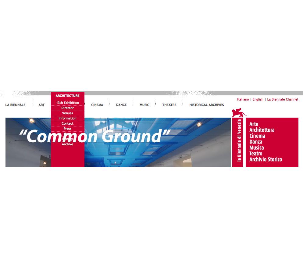"""""""Common Ground"""" será el tema de la 13 Edición de la Bienal de Venecia"""