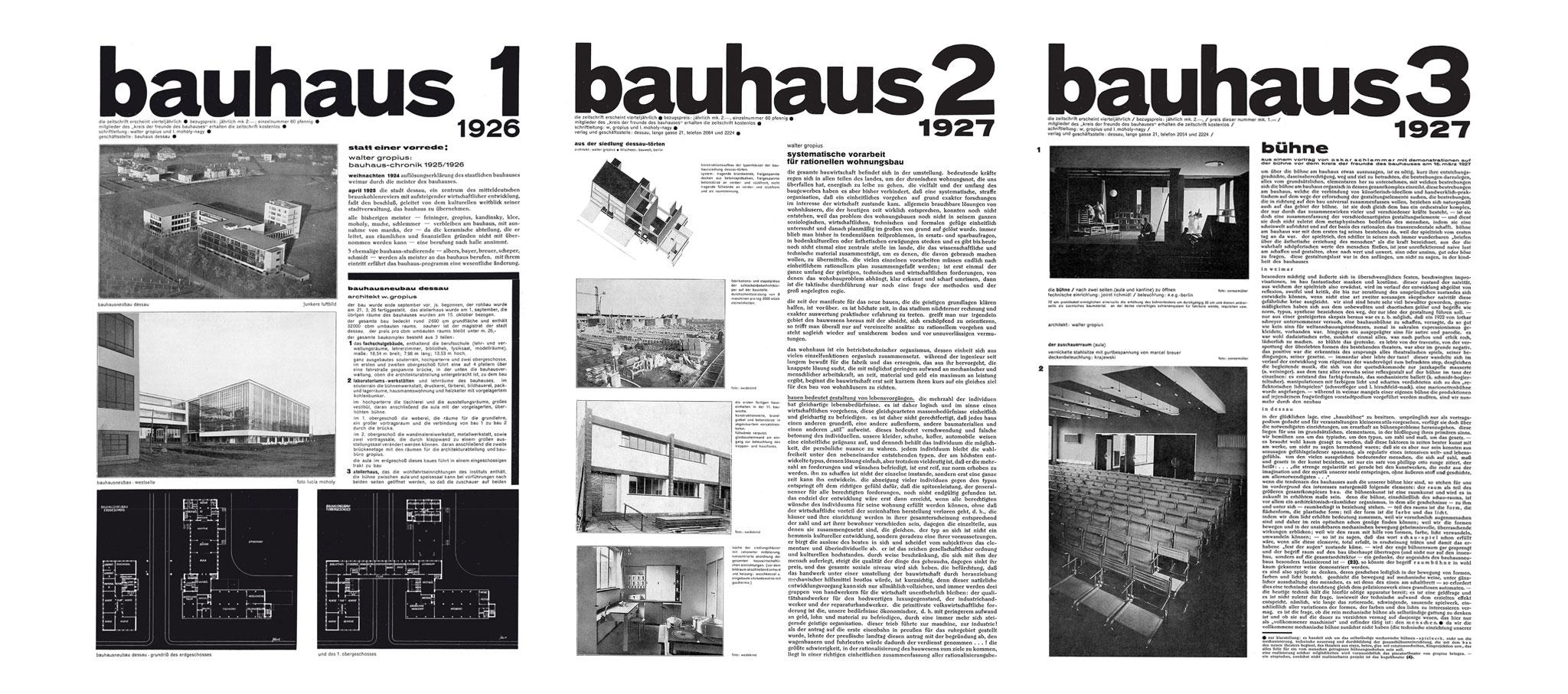 BAUHAUS JOURNAL 1926–193. Algunas cubiertas de la revista