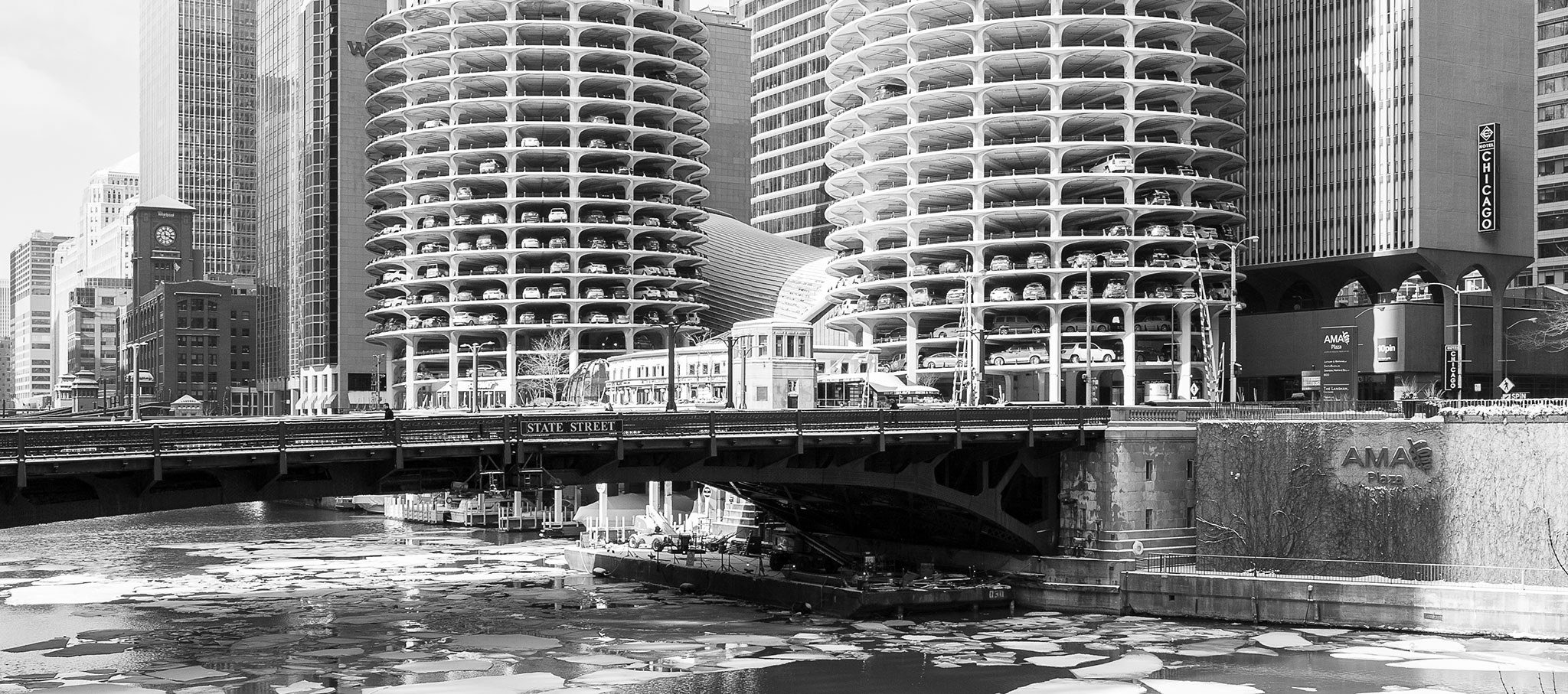 Detail. Marina City by Bertrand Goldberg Associates. Photograph © Jason Woods for Blue Crow Media