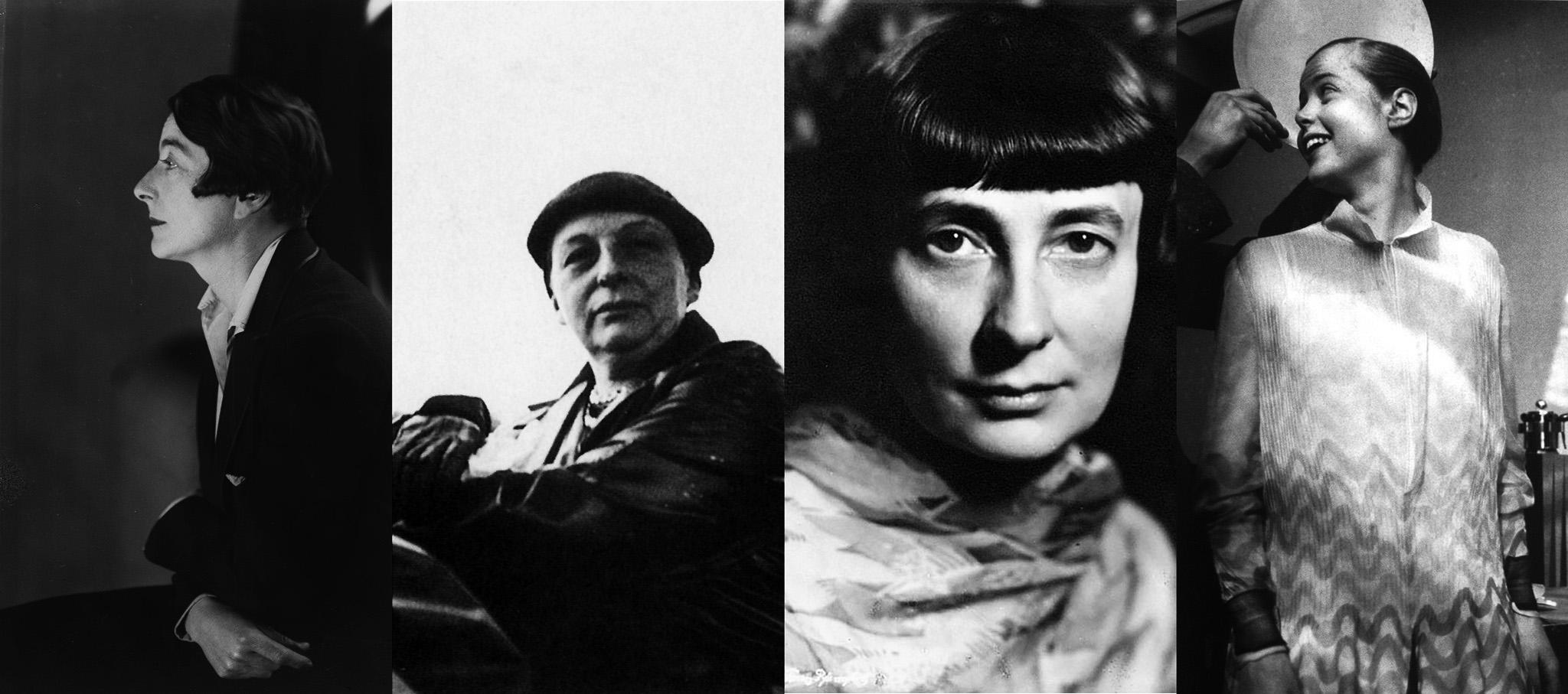 Eileen Gray (Enniscorthy, Irlanda, 1878-París, 1976), Lilly Reich (Berlín, 1885-1947), Margarete Schütte-Lihotzky (Viena, 1897-2000) y Charlotte Perriand (París, 1903-1999)