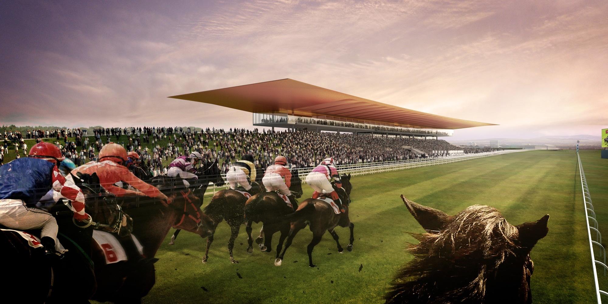 Visualización. Hipódromo Curragh por Grimshaw Architects