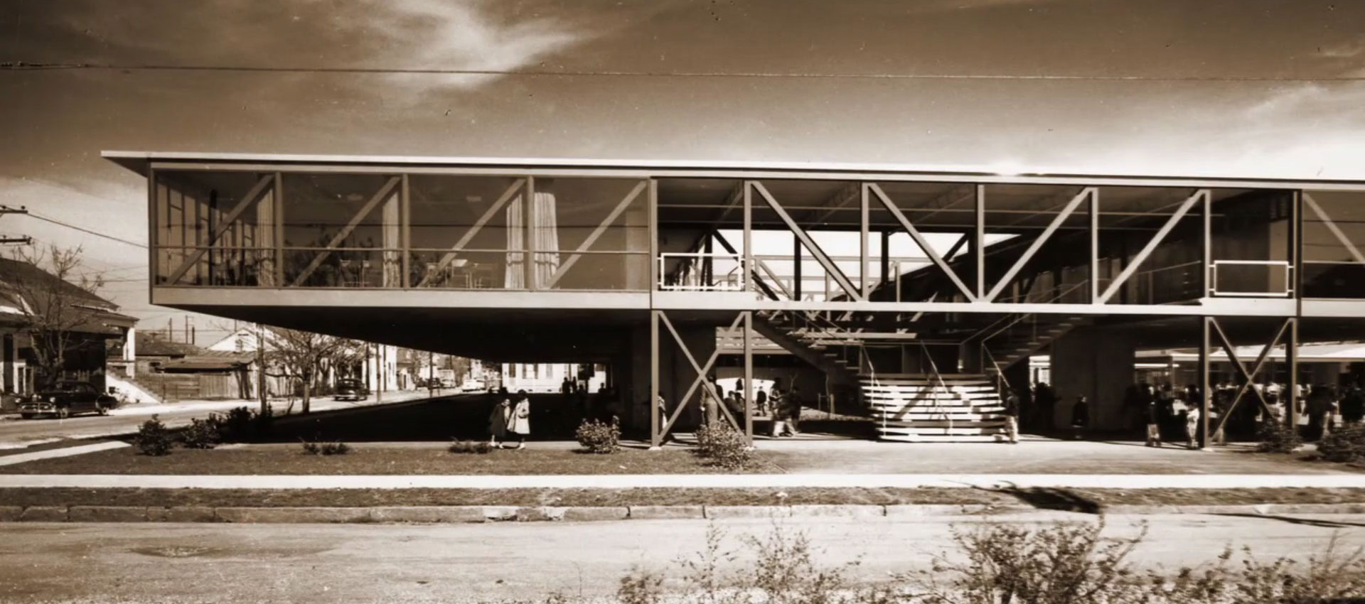 Phillis Wheatley Elementary School by Charles R. Colbert - Curtis & Davis, 1954. Photograph by Frank Lotz Miller