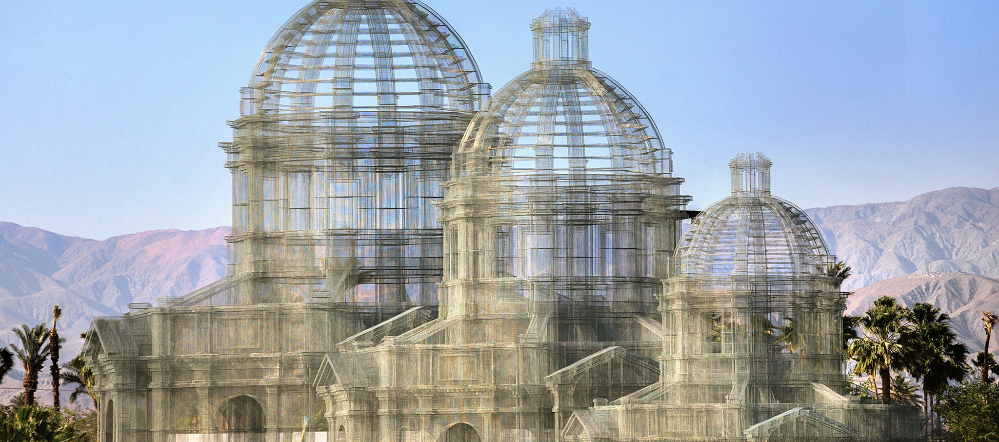 Etherea is Edoardo Tresoldi biggest installation to date. Photograph @ Roberto Conte