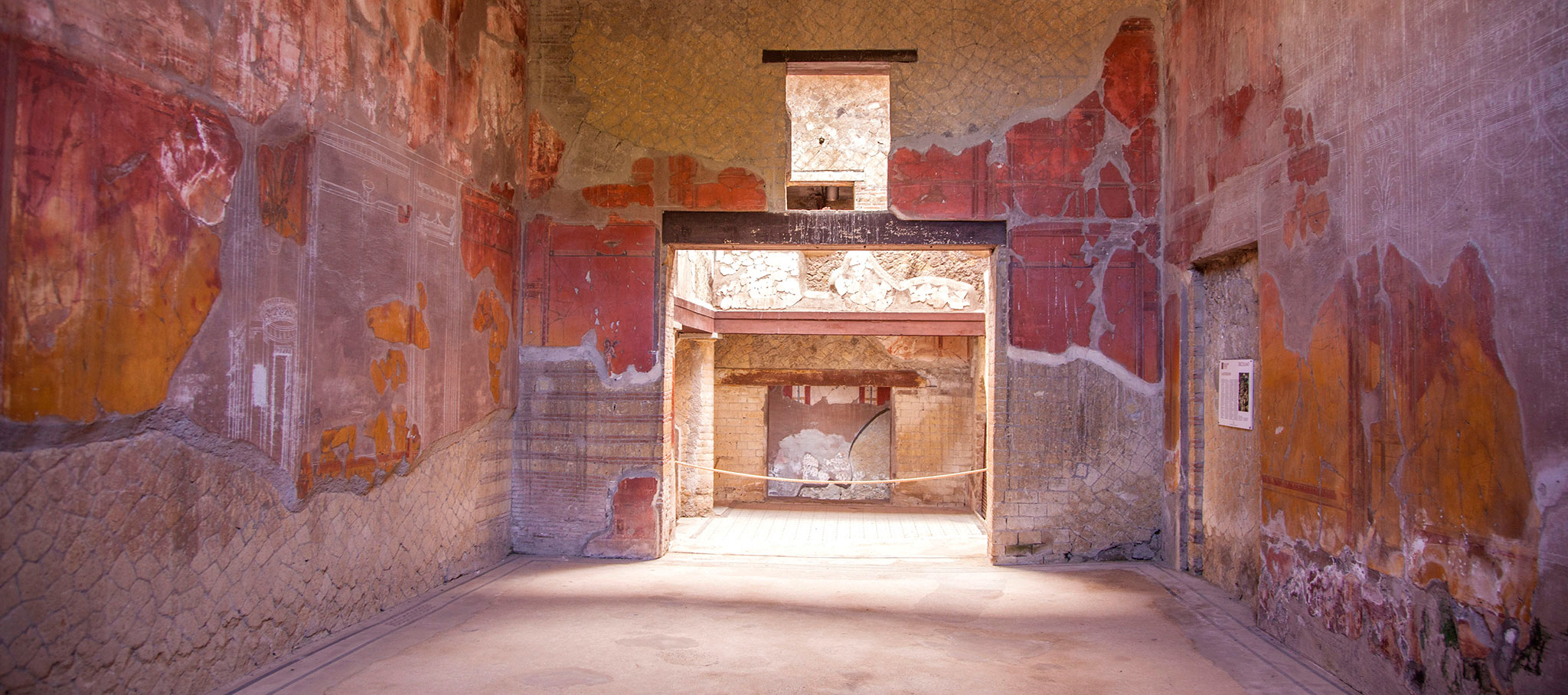 Casa del Bel Cortile (1st century AD), Herculaneum. Courtesy of Parco Archeologico di Ercolano and Expanded Interiors