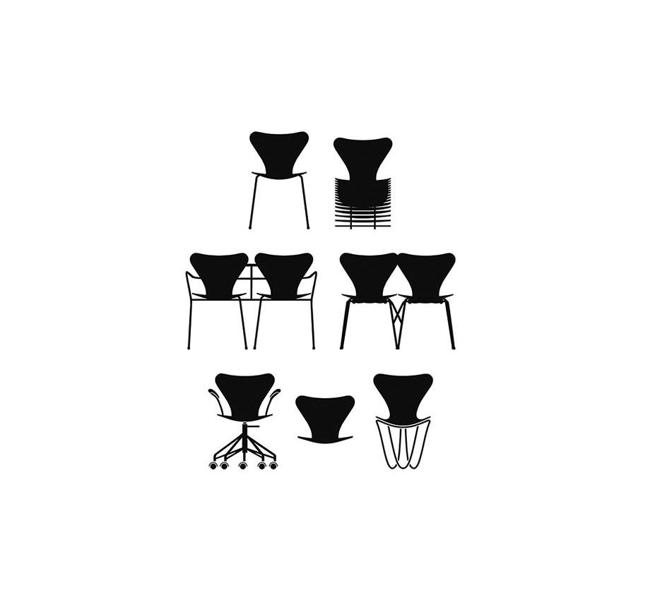 7 Reinterpretaciones de la silla Series 7™ de Jacobsen