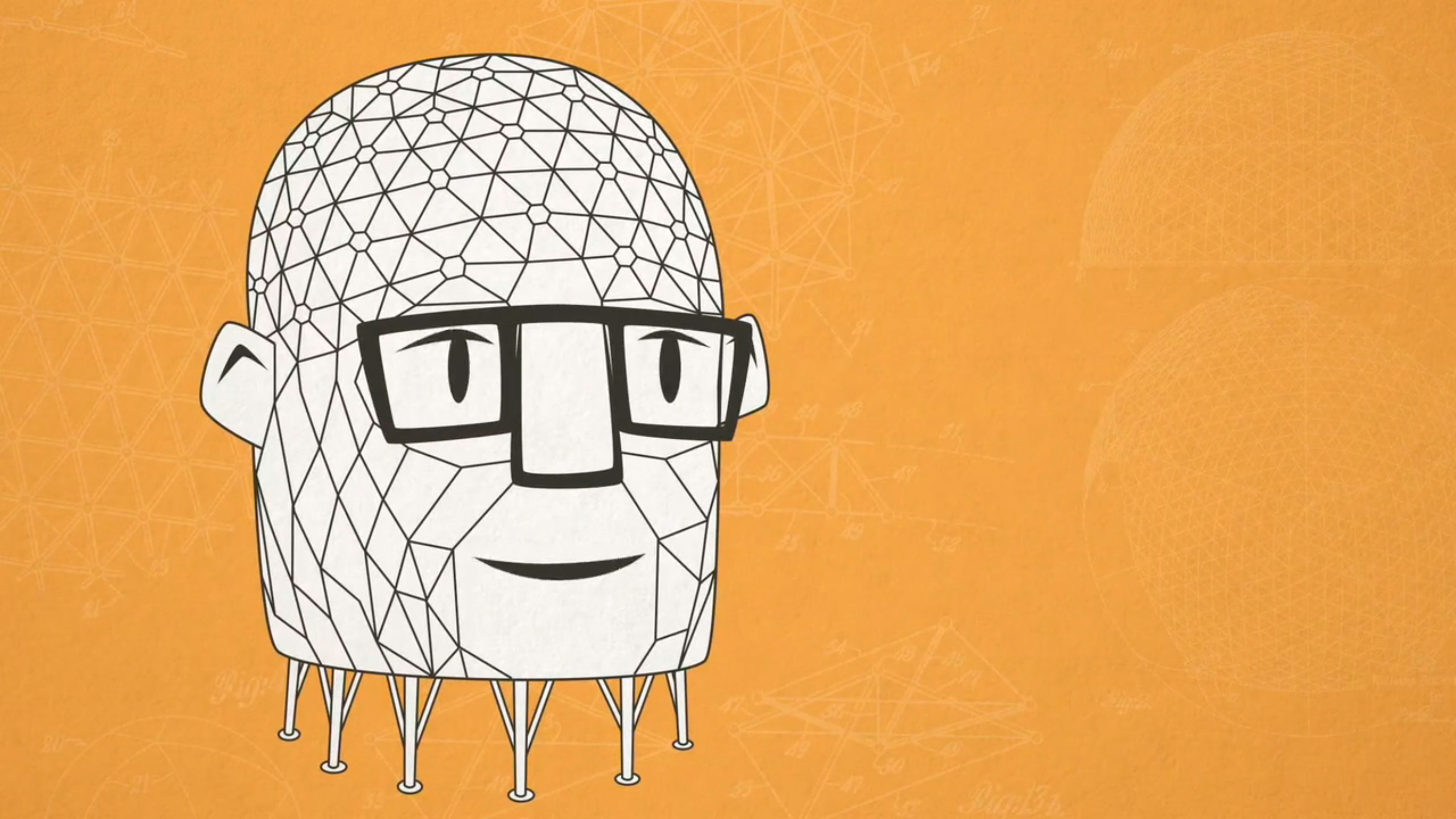 'Buckminster Fuller on The Geodesic Life' de Quoted Studios. Corte de vídeo
