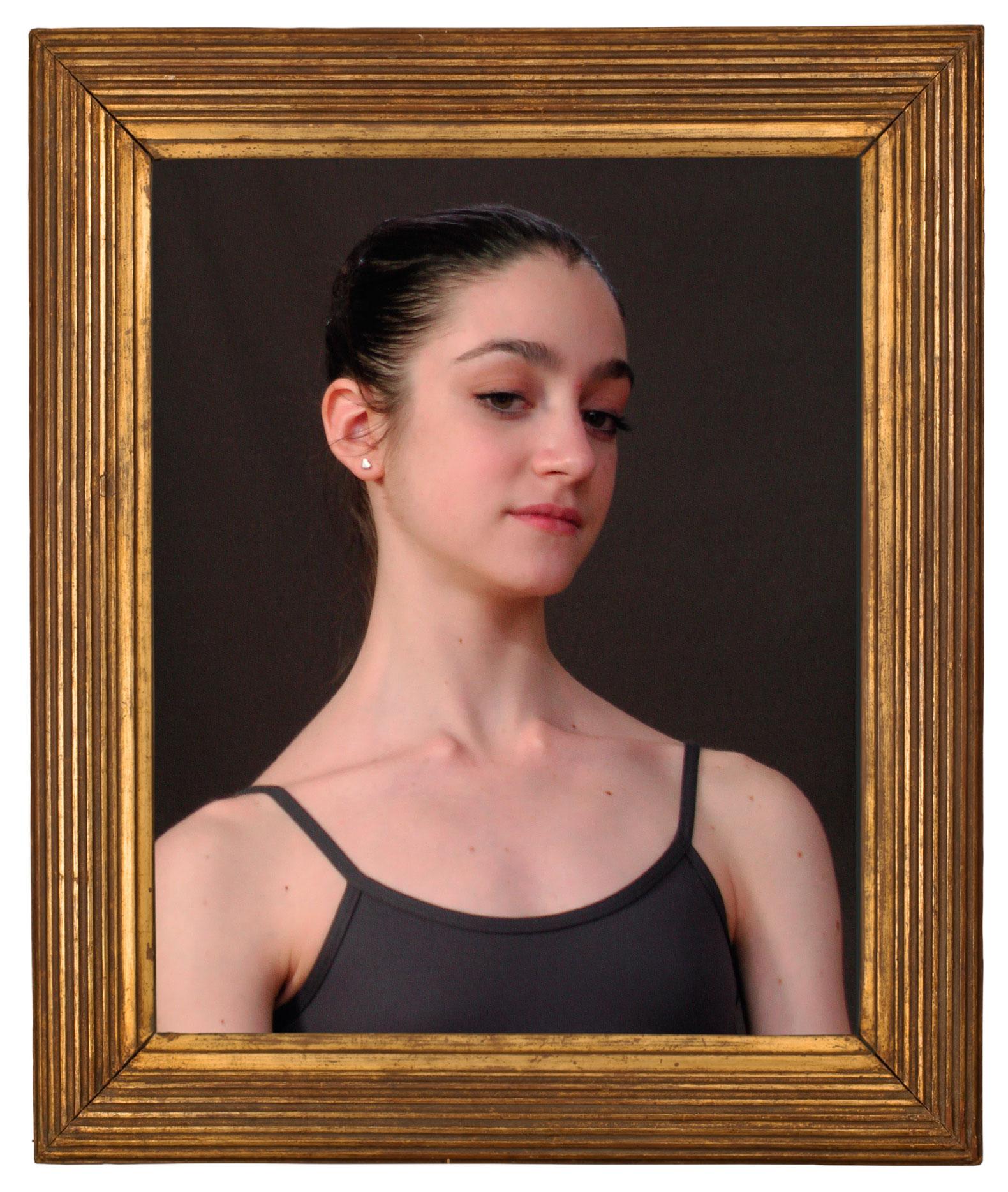 Portrait of Allessia (with frame), 2018 © Gabriella Gerosa, courtesy Ivorypress
