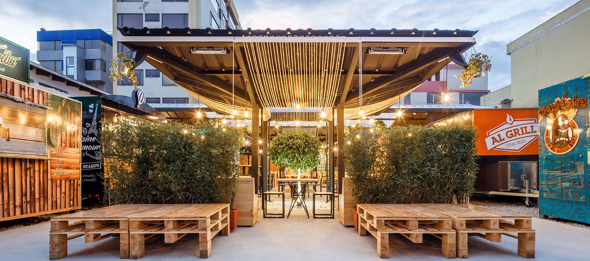 Vista exterior. Restaurante Gastrópolis por TEC Taller EC. Fotografía © Bicubik