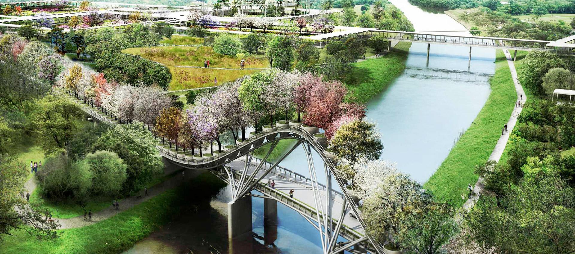 Houston Botanic Garden master plan design by West 8