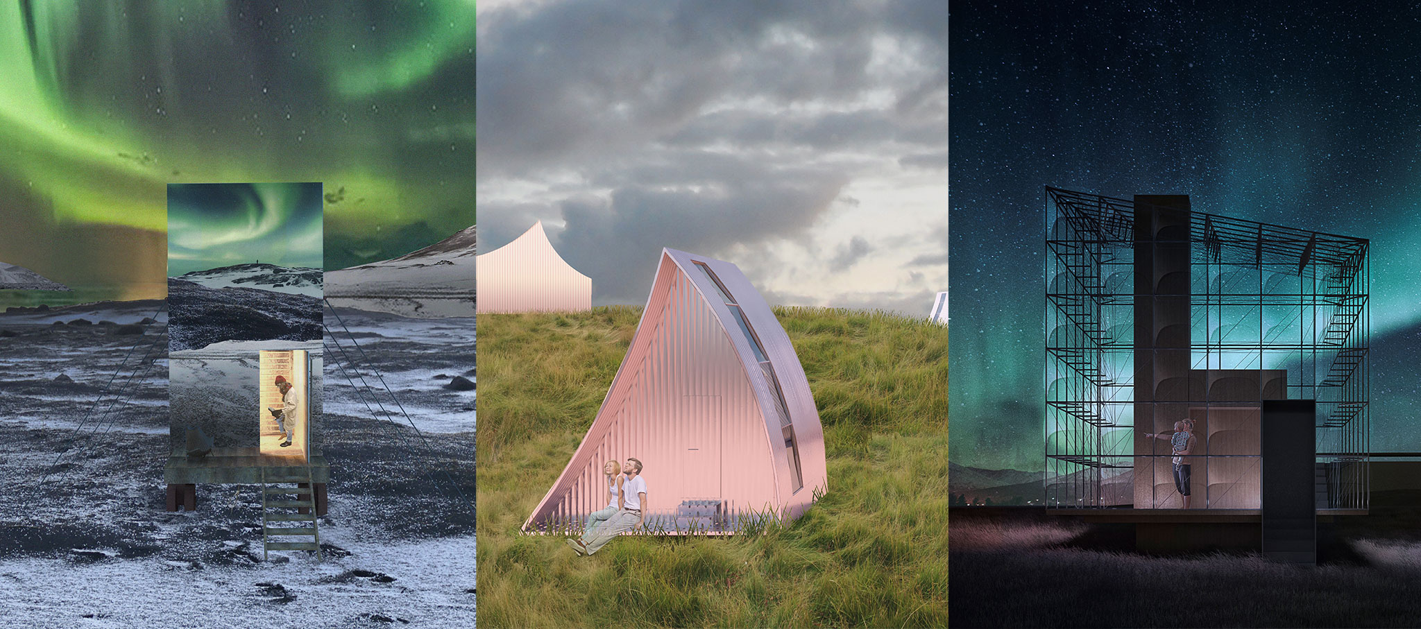 Winners of the Iceland Northern Lights Rooms competition