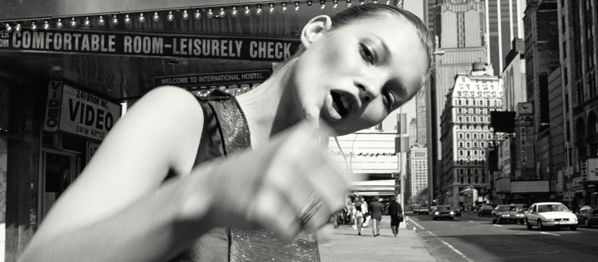 Kate Moss, Times Square, New York, negative, 1994; print, 2017. Glen Luchford, british, born 1968. Gelatin silver print. The J. Paul Getty Museum, Los Angeles, Gift of Glen and Tanya Luchford © Glen Luchford