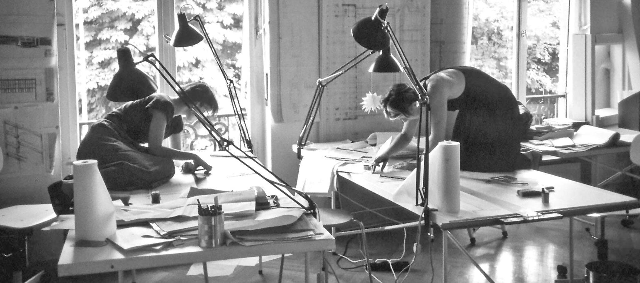 Ingeborg Kuhler - Collaborator in the office; Ruth Jureczek/ Irene Keil. Photograph  © Marina Auder
