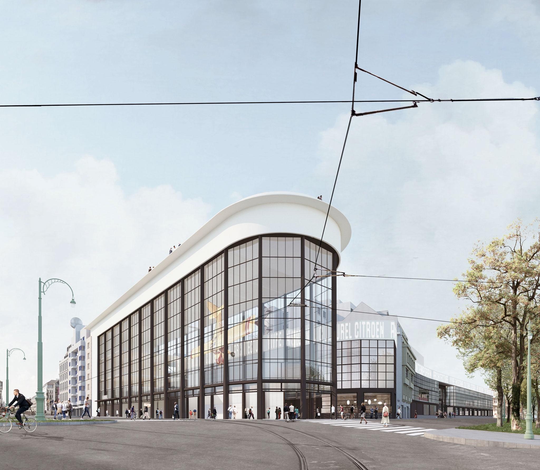 """De antigua fabrica de Citroën a nuevo """"Centre Pompidou"""" por NOA, EM2N and SBA. Imagen cortesía de NOA / EM2N / SBA"""