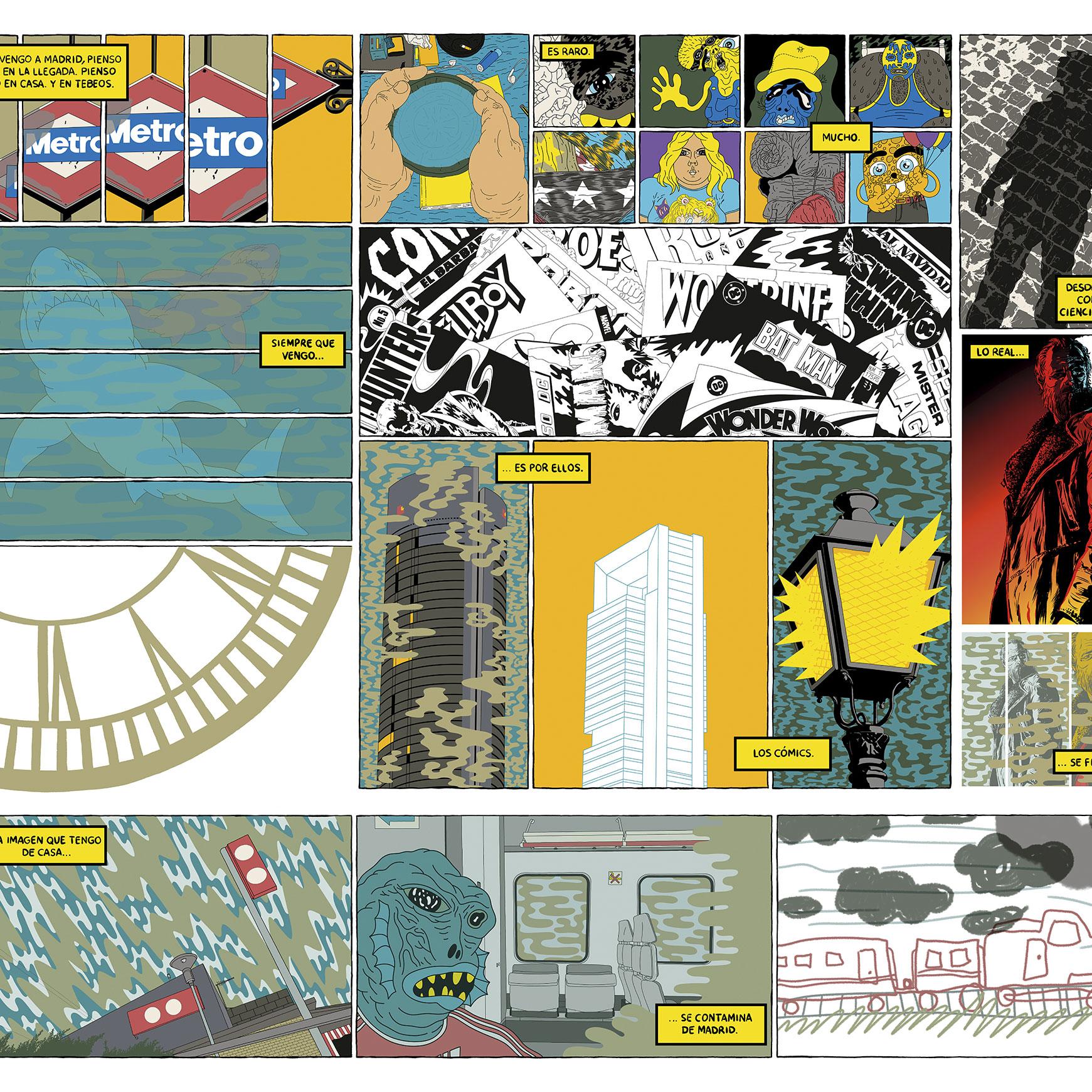 """Página 1, La ciudad en viñetas, Víctor Puchalski. """"La ciudad en viñetas"""" por Victor Puchalski"""