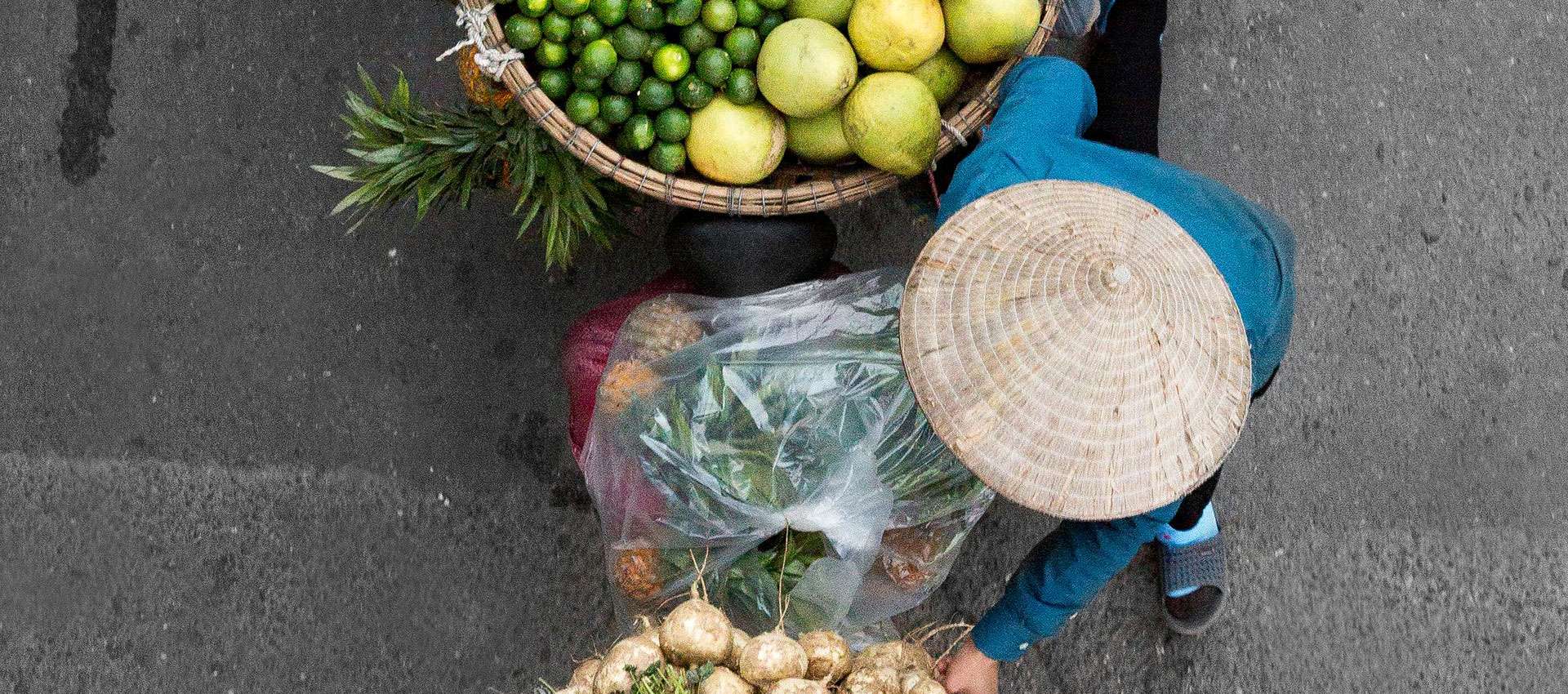 A view from the bridge: Vietnam's street vendors. Photography © Loes Heerink