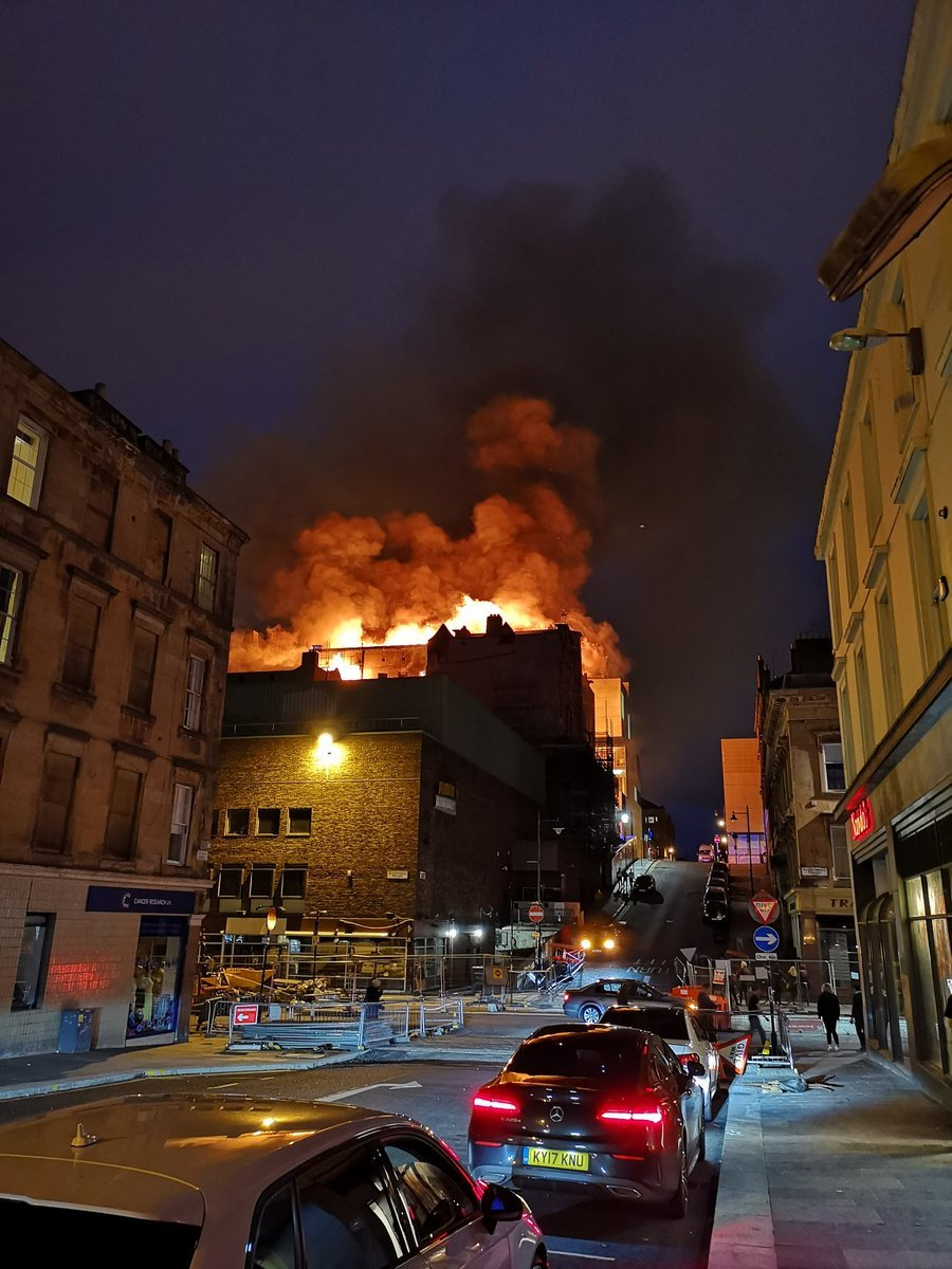 The fire ripped through the newly-restored building on Friday night. Photograph by Rocco Giudice