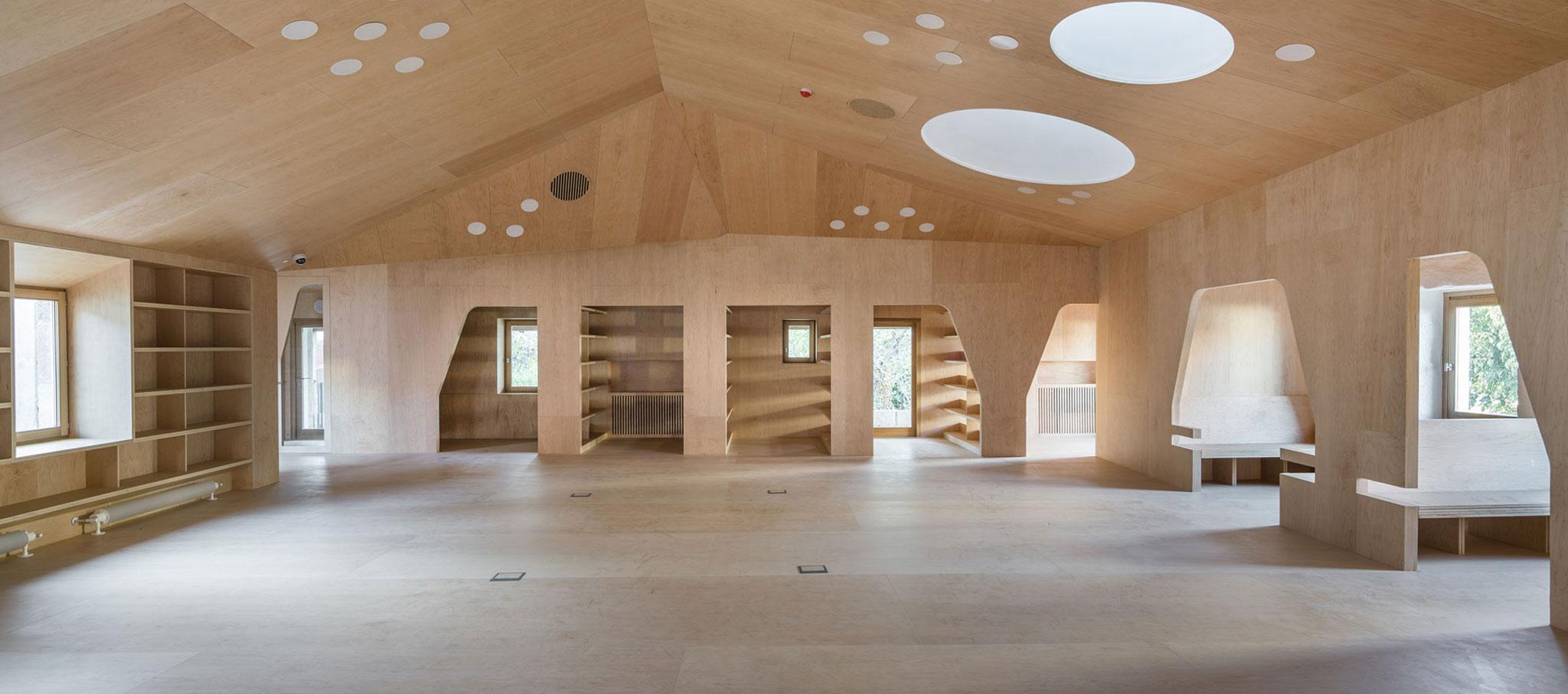 Sala de lectura principal. Biblioteca pública y Archivo histórico por Murado&Elvira Architecture. Fotografía © Imagen subliminal
