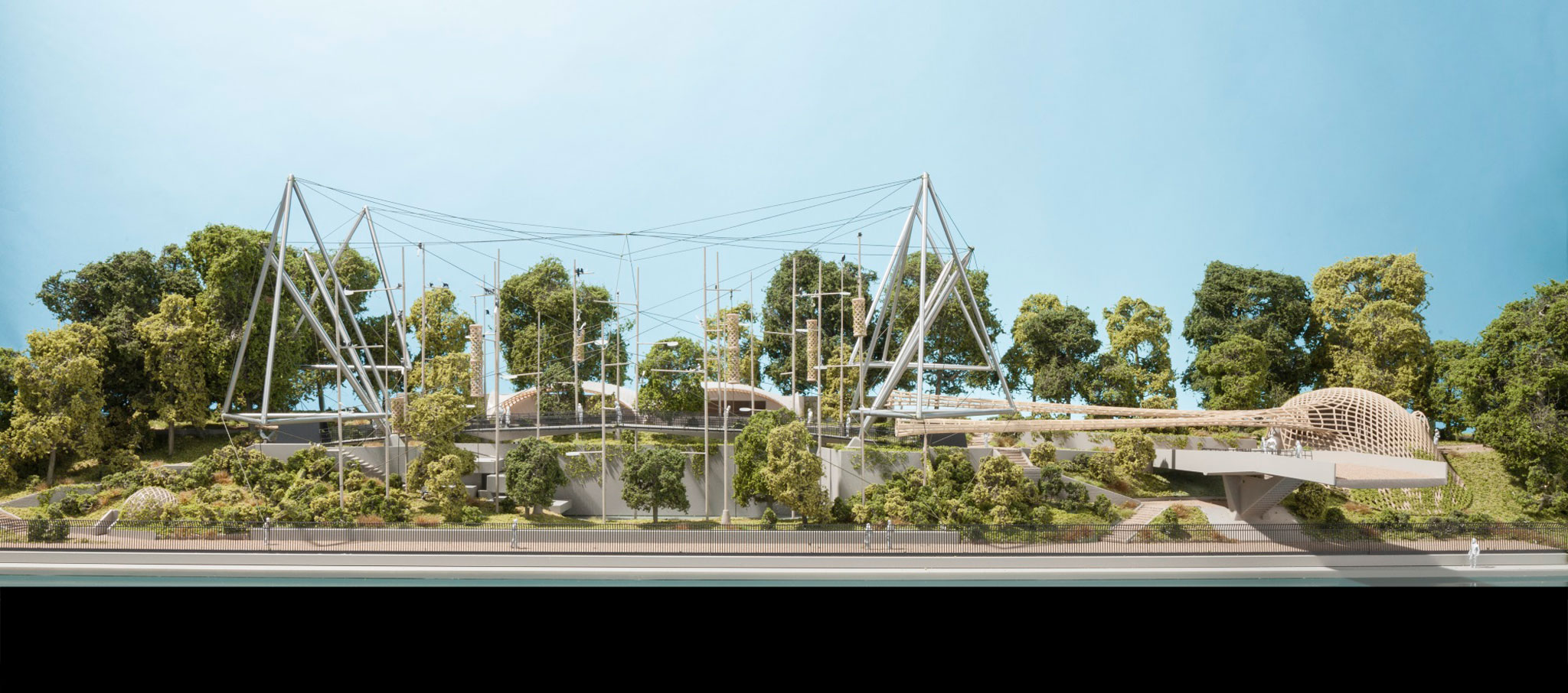 New ZSL London Zoo's Snowdon Aviary by Foster + Partners. Image by Tom Miller