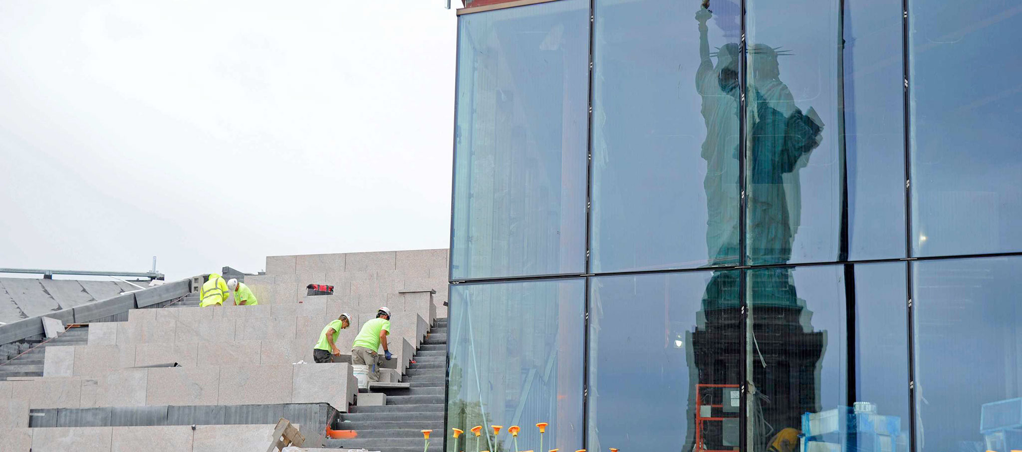 Statue of Liberty Museum by FXCollaborative. Photograph by Diane Bondareff/AP Images for Statue of Liberty-Ellis Island Foundation