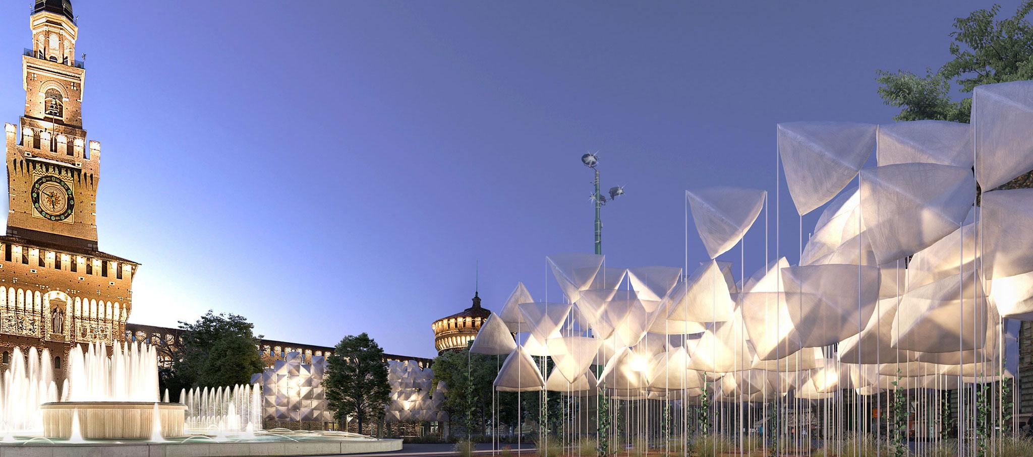 Instalación agrAir en la Milan Design Week 2018 por Piuarch. Imagen cortesía de Piuarch