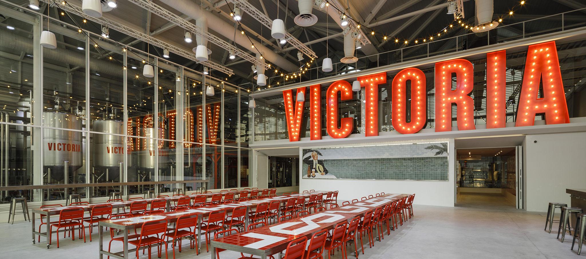 Área de catas. Fábrica Cerveza Victoria por GANA Arquitectura. Fotografía © Fernando Alda