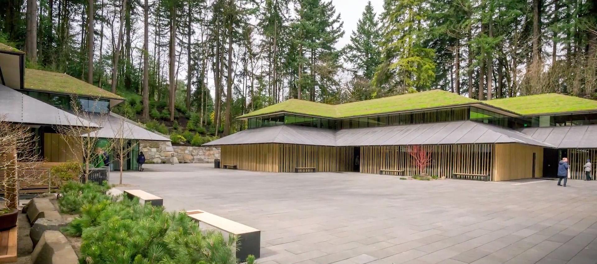 Ampliación del Jardín Japonés de Portland por Kengo Kuma. Fotografía por Bruce Foster