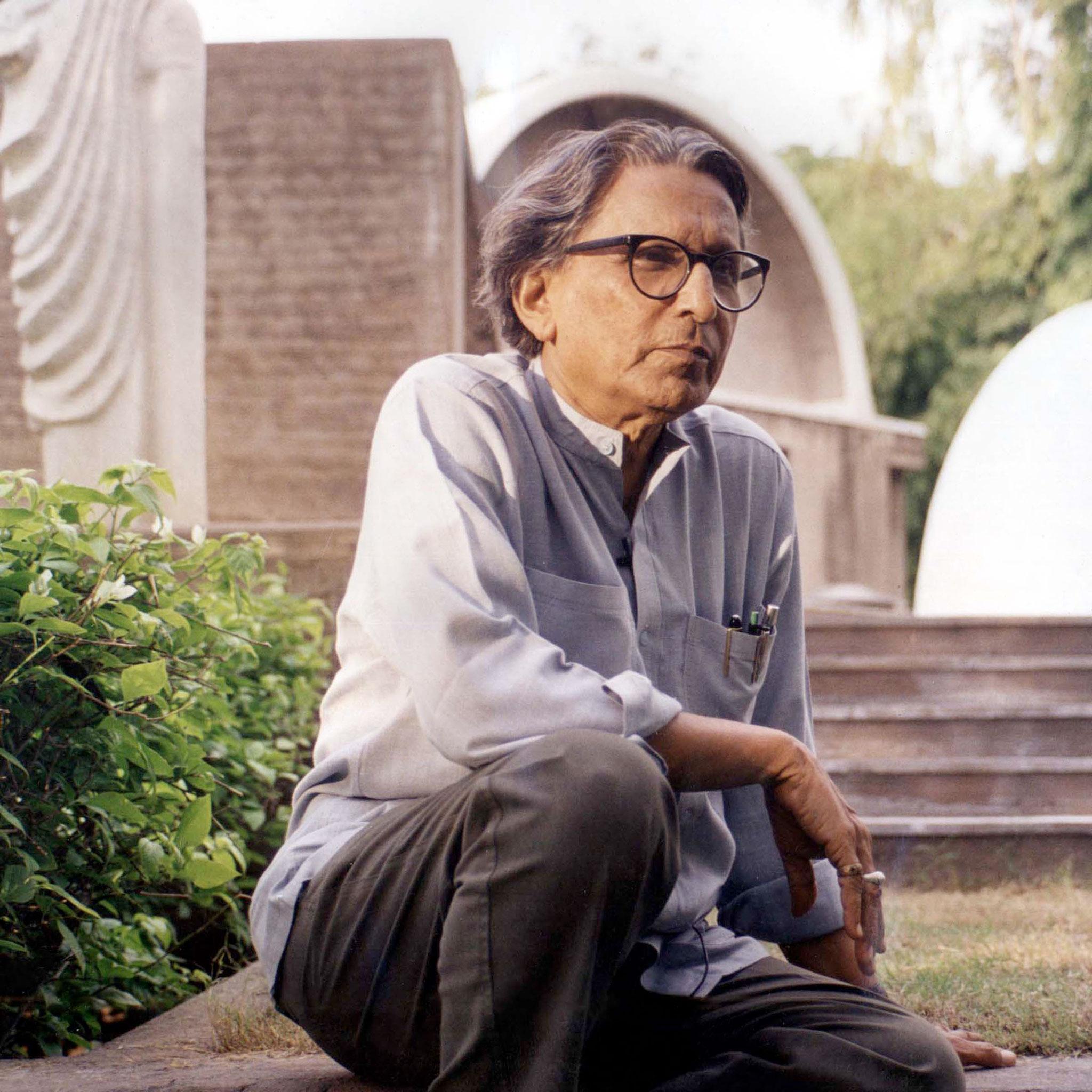 Balkrishna Doshi. Imagen cortesía de VSF / Premio Pritzker de Arquitectura