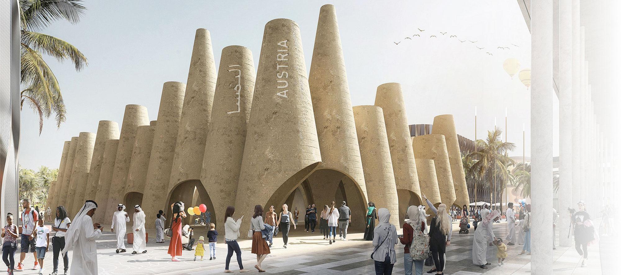 Pabellón Austriaco de la Expo 2020 Dubai por querkraft architekten. Imagen © querkraft architekten - bagienski