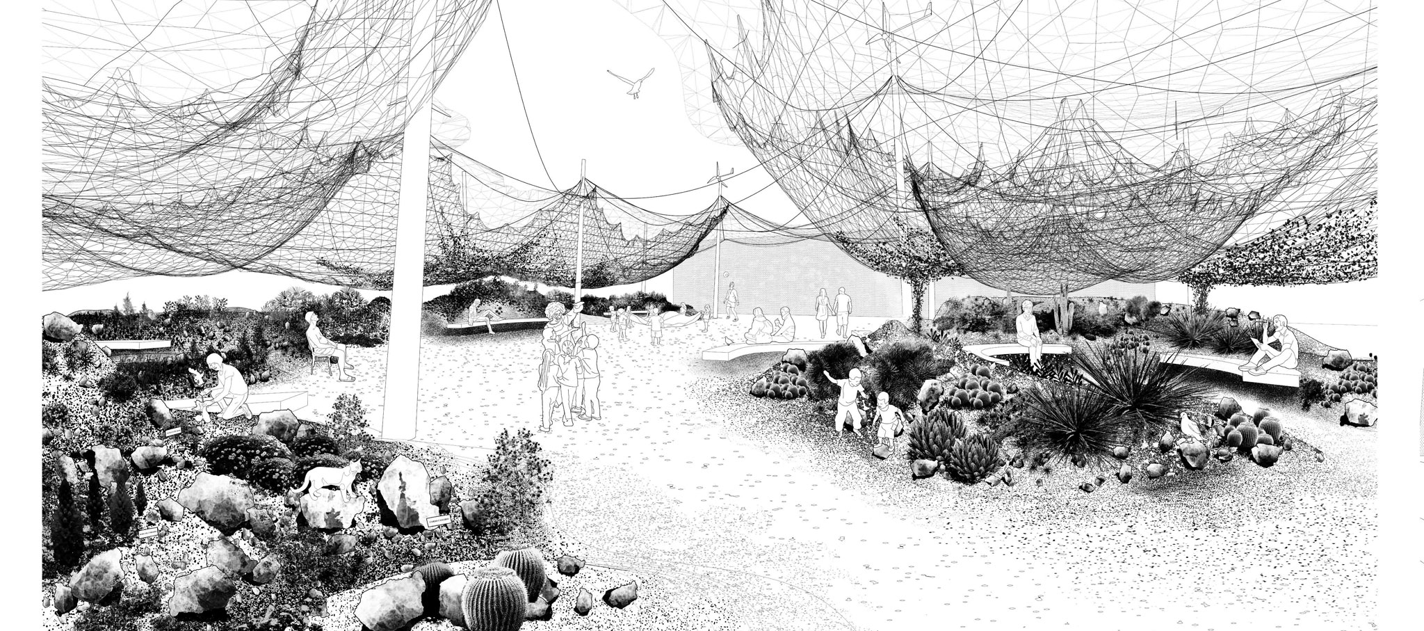 Tephra, project winner of the contest reTHINKING Competitions. Courtesy by Díaz + Ramos