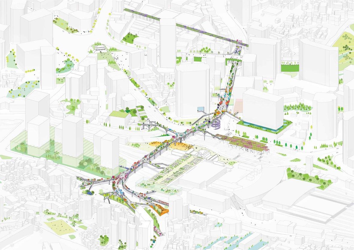 Imagen del proyecto Seúl Skygarden por MVRDV. Imagen © MVRDV