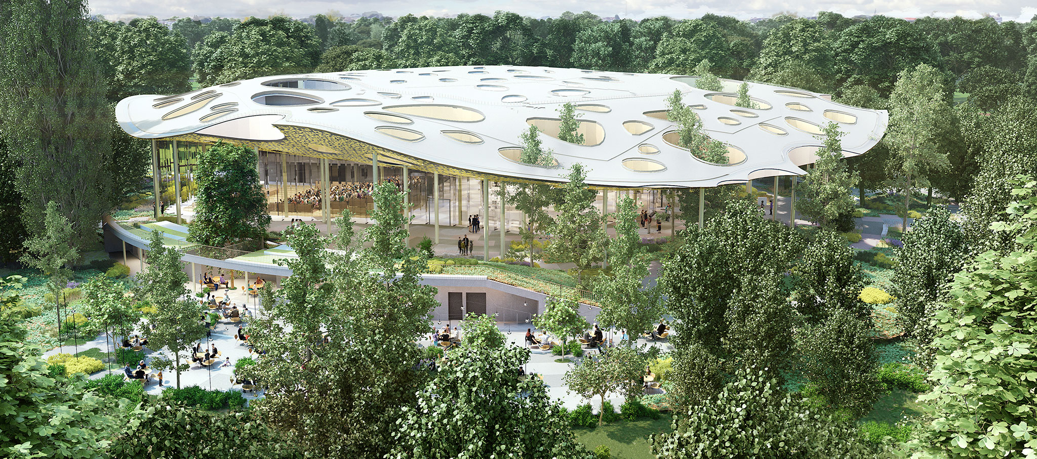 New renderings, House of Hungarian Music by Sou Fujimoto. Imgae courtesy of House of Hungarian Music