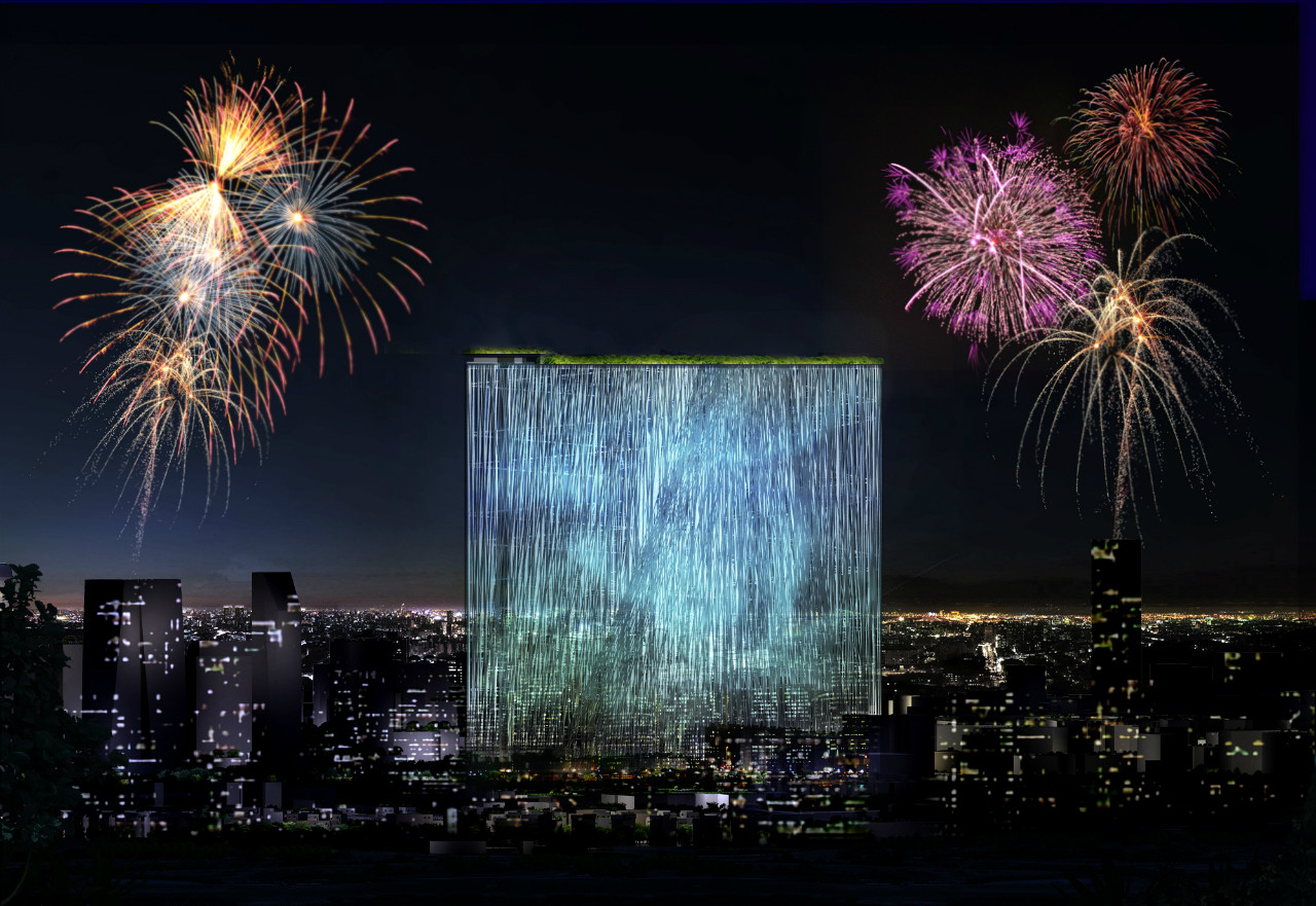 """21st century Oasis"" por Sou Fujimoto Architects, Taichung City, Taiwan todas las imágenes son cortesía de Taiwan Tower International Competition + Sou Fujimoto Architects"