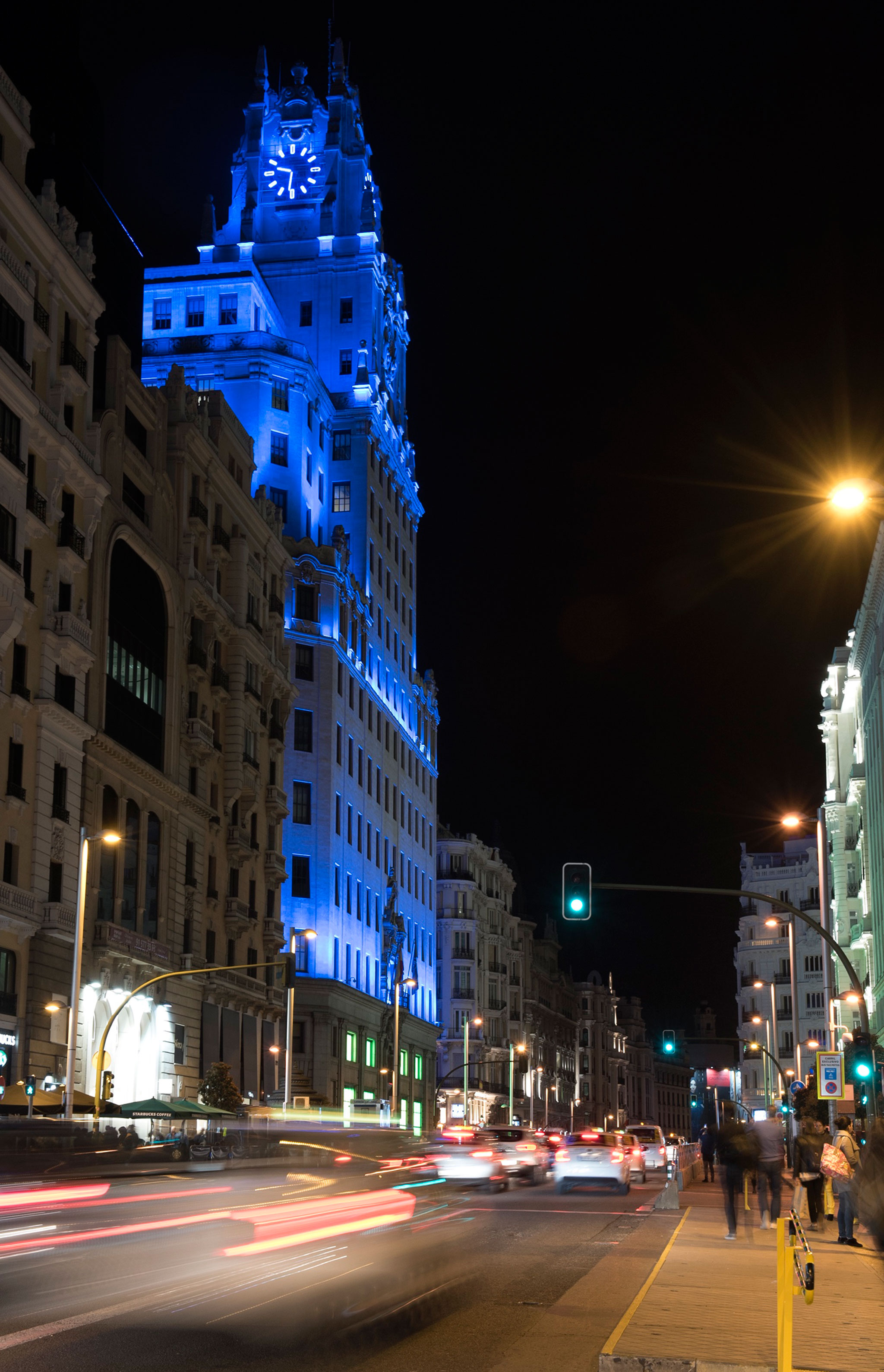 World Autism Day, 'Light it Up Blue'. Image courtesy of Telefónica