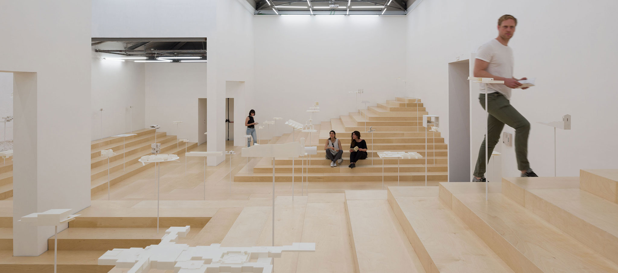 Interior view. The School of Athens, Neiheiser Argyros. Greece Pavilion for the Biennale Architettura di Venezia 2018. Photograph by Ugo Carmeni