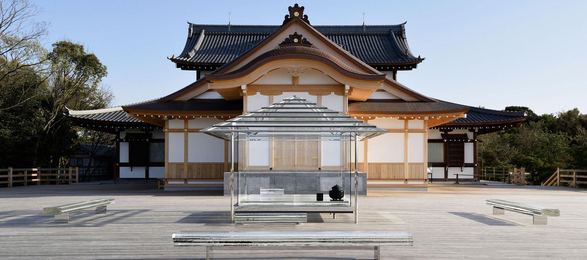 KOU-AN una casa del té en vidrio por Tokujin Yoshioka. Fotografía © Yasutake Kondo