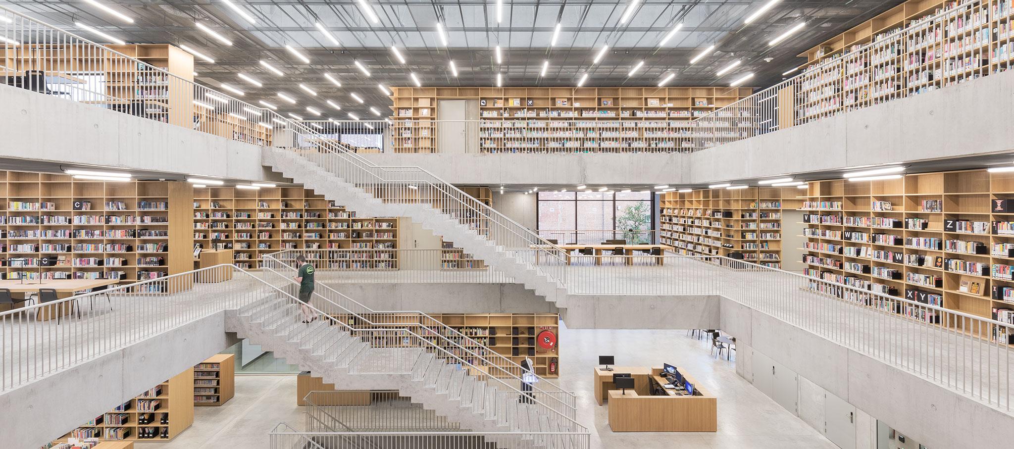 Utopia – Biblioteca y Academia de Artes Escénicas por KAAN Architecten. Fotografía Delfino Sisto Legnani e Marco Cappelletti