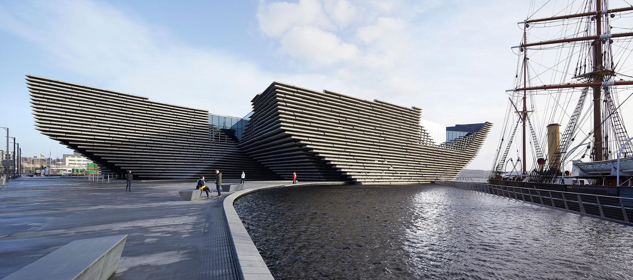 Enero 2018. V&A Dundee por Kengo Kuma. Fotografía por Hufton+Crow. Imagen cortesía de V&A Dundee