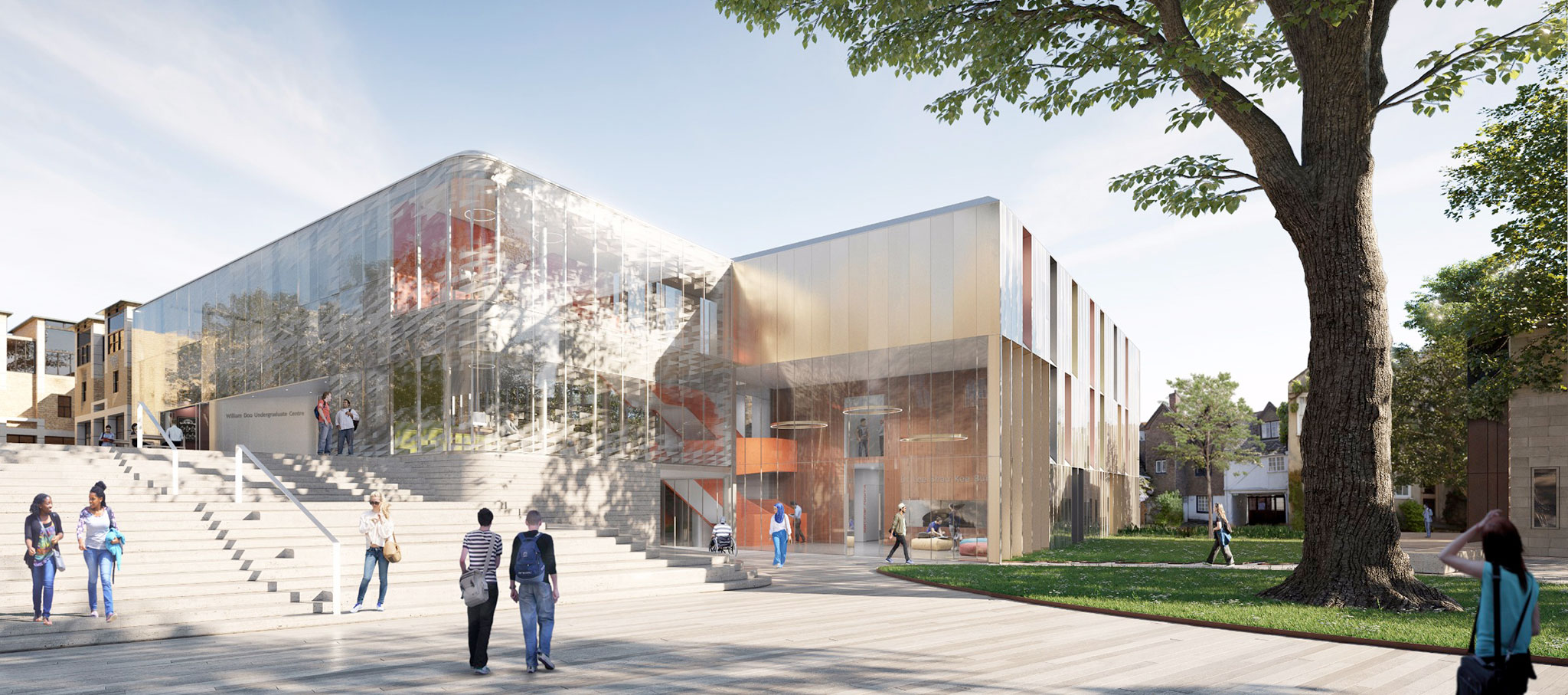 Rendering. Oxford undergraduate centre by AL_A