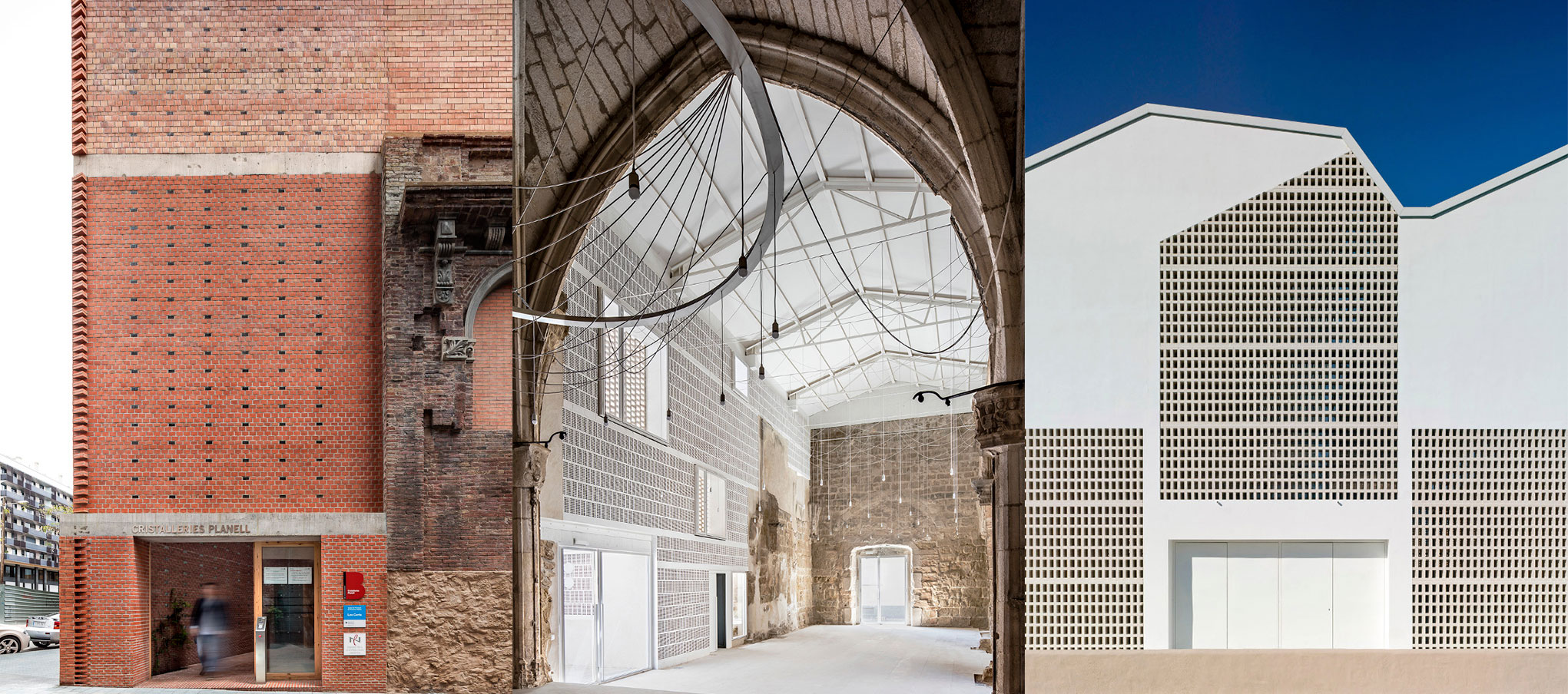 Winners three works ex aequo, Sports Centre Es Puig D´en Valls (Balearic Islands), Rehabilitation of the The Ancient Church of Vilanova de la Barca (Lleida) and the recovery of the Lleialtat Santseca building (Barcelona)