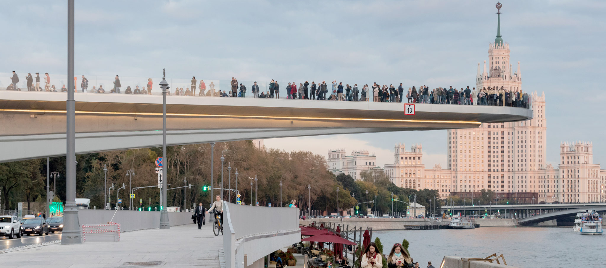 The new Zaryadye Park in Moscow is the centerpiece of a plan to increase and enhance the city's public space. Photograph © Iwan Baan. Courtesy of Diller Scofidio + Renfro