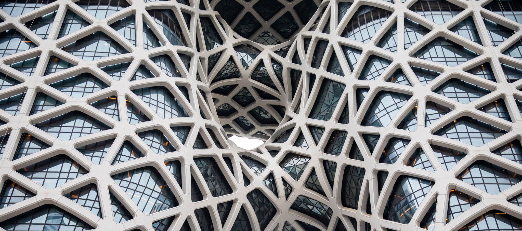 Exoskeleton. Morpheus, a new flagship hotel for the City of Dreams resort in Macau by Zaha Hadid Architects. Photograph © Ivan Dupont