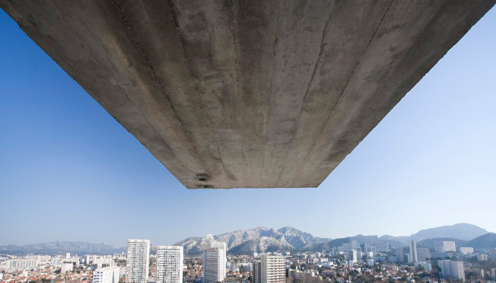 The rooftop of Le Corbusier's Cité Radieuse housing block in Marseille, remodelation by Ito Morabito